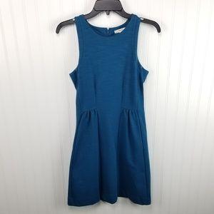 Madewell XS Teal Blue Ponte Knit Keynote Dress